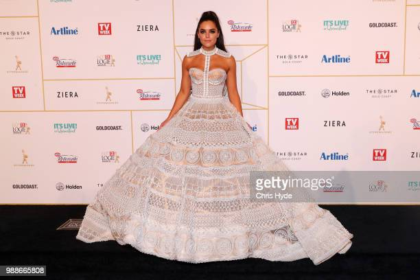 Olympia Valance arrives at the 60th Annual Logie Awards at The Star Gold Coast on July 1 2018 in Gold Coast Australia