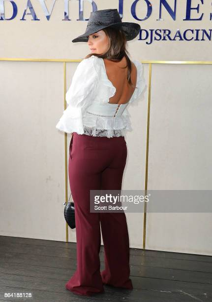 Olympia Valance attends the David Jones Marquee on Caulfield Cup Day at Caulfield Racecourse on October 21 2017 in Melbourne Australia