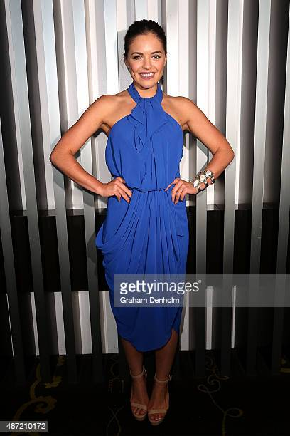 Olympia Valance poses at the TV Week Logie Awards Nominations Party at Crown Metropol on March 22 2015 in Melbourne Australia