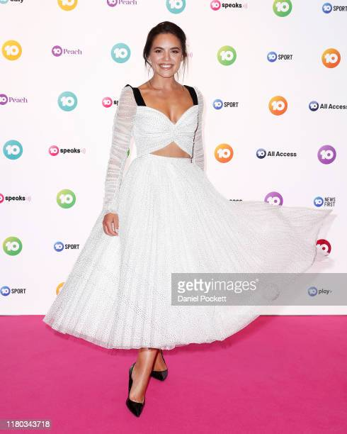 Olympia Valance poses during the Network 10 Melbourne Upfronts 2020 on October 11, 2019 in Melbourne, Australia.