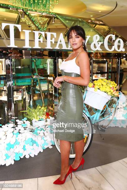 Olympia Valance poses the Tiffany Co Paper Flowers Launch on August 28 2018 in Melbourne Australia