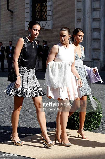 Olympia von und zu ArcoZinneberg attends the wedding of Prince Amedeo Of Belgium and Elisabetta Maria Rosboch Von Wolkenstein at Basilica Santa Maria...