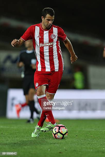 Olympiacos FC's defender from Spain Alberto Botia during the match between Arouca v Olympiakos match for UEFA Europa League Qualifications Finals...