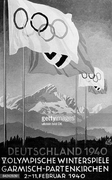 Olympiade Das Werbeplakat für die V OlympischenWinterspiele nach dem Entwurf desKunstmalers Edwin Henel August 1939