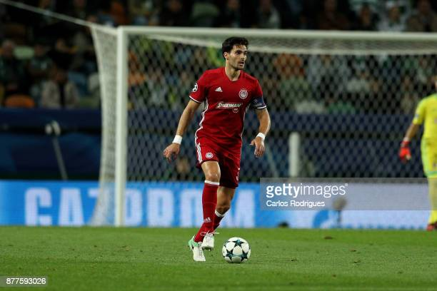 Olympiakos Piraeus defender Alberto Botia from Spain during the UEFA Champions League match between Sporting CP and Olympiakos Piraeus at Estadio...