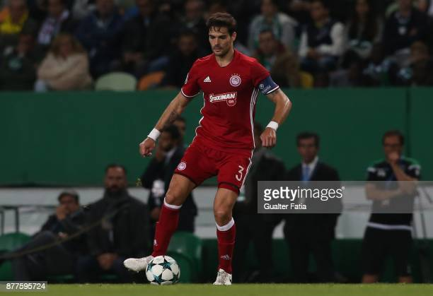 Olympiakos Piraeus defender Alberto Botia from Spain in action during the UEFA Champions League match between Sporting Clube de Portugal and...