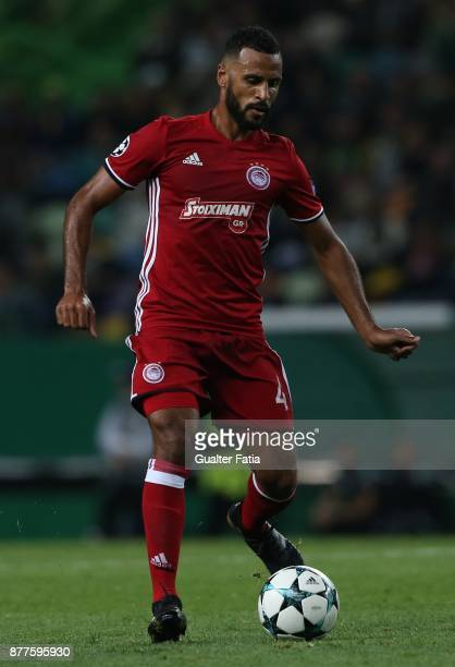 Olympiakos Piraeus midfielder Alaixys Romao from Tongo in action during the UEFA Champions League match between Sporting Clube de Portugal and...