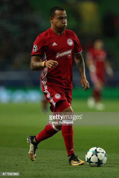 Olympiakos Piraeus midfielder Felipe Pardo from Colombia during the UEFA Champions League match between Sporting CP and Olympiakos Piraeus at Estadio...