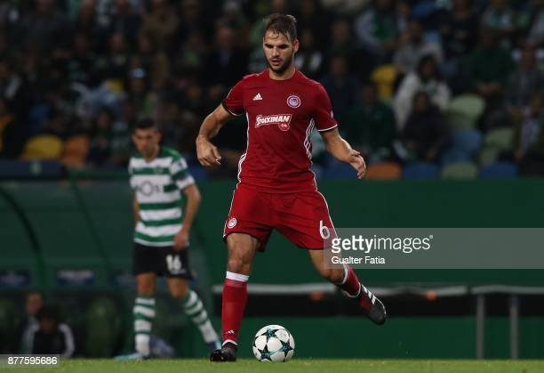 Olympiakos Piraeus midfielder Panagiotis Tachtsidis from Greece in action during the UEFA Champions League match between Sporting Clube de Portugal...
