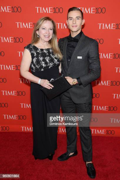Olympian Adam Rippon and mother Kelly Rippon attend the 2018 Time 100 Gala at Jazz at Lincoln Center on April 24 2018 in New York City