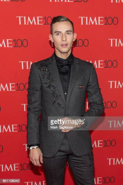 Olympian Adam Rippon attends the 2018 Time 100 Gala at Frederick P Rose Hall Jazz at Lincoln Center on April 24 2018 in New York City
