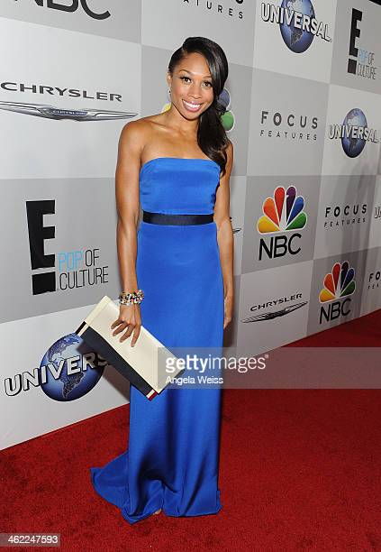 Olympian Allyson Felix attends the Universal NBC Focus Features E sponsored by Chrysler viewing and after party with Gold Meets Golden held at The...