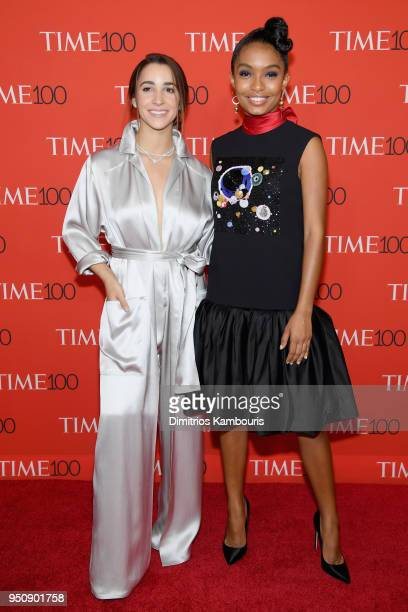 Olympian Aly Raisman and actor Yara Shahidi attend the 2018 Time 100 Gala at Jazz at Lincoln Center on April 24 2018 in New York City