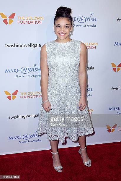 Olympian american gymnast Laurie Hernandez attends the 4th Annual Wishing Well Winter Gala at Hollywood Palladium on December 7 2016 in Los Angeles...