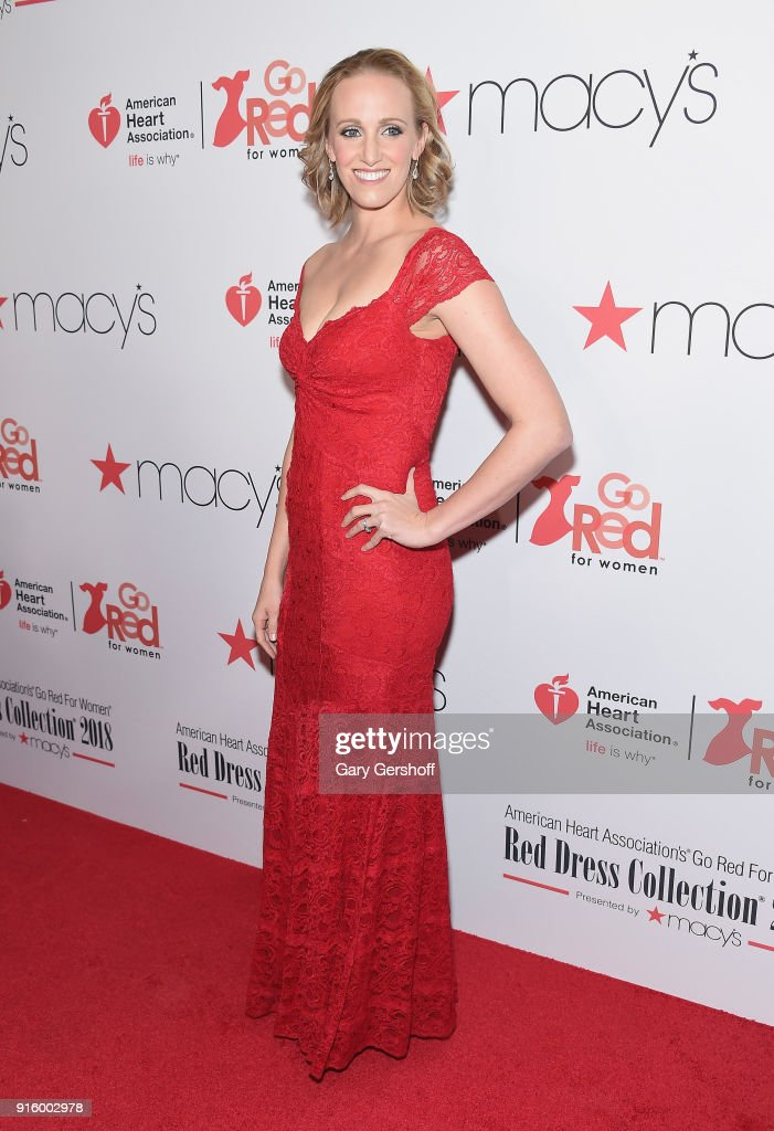 Olympian and American Heart Association Ambassador Dana Vollmer attends the Red Dress / Go Red For Women Fashion Show at Hammerstein Ballroom on February 8, 2018 in New York City.