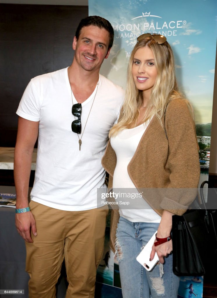 Olympian athlete Ryan Lochte (L) and model Kayla Rae Reid attend Kari Feinstein's Pre-Oscar Style Lounge at the Andaz Hotel on February 23, 2017 in Los Angeles, California.