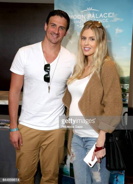 Olympian athlete Ryan Lochte and model Kayla Rae Reid attend Kari Feinstein's PreOscar Style Lounge at the Andaz Hotel on February 23 2017 in Los...