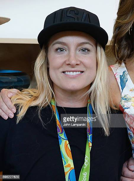 Olympian Bethany Maddox Sands attends 2016 US Open Media Food Tasting Preview at USTA Billie Jean King National Tennis Center on August 25 2016 in...
