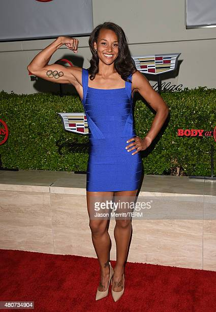 Olympian Chantae McMillan attends BODY at ESPYs at Milk Studios on July 14 2015 in Hollywood California