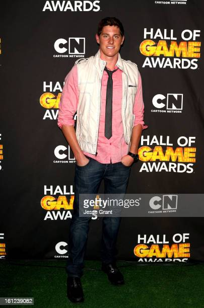 Olympian Conor Dwyer attends the Third Annual Hall of Game Awards hosted by Cartoon Network at Barker Hangar on February 9 2013 in Santa Monica...