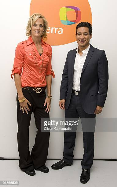 Olympian Dara Torres and actor Mario Lopez attend Orbita US 2009 at The New Museum on October 13 2009 in New York City
