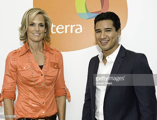 Olympian Dara Torres and actor Mario Lopez attends Orbita US 2009 at The New Museum on October 13 2009 in New York City