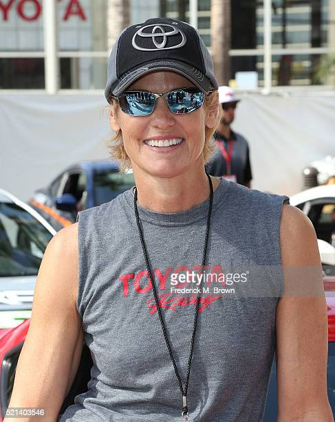 Olympian Dara Torres attends the 42nd Toyota Grand Prix of Long Beach on April 15 2016 in Long Beach California