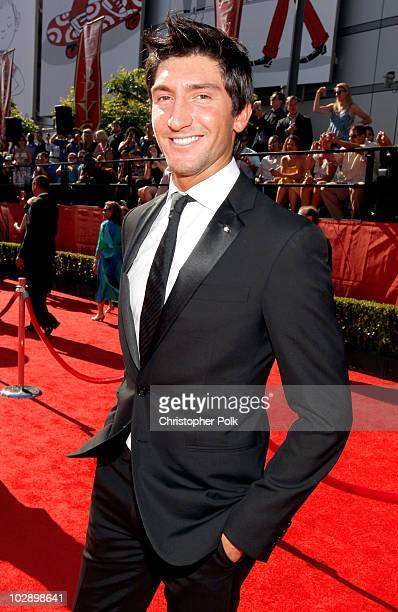 Olympian Evan Lysacek arrives at the 2010 ESPY Awards at Nokia Theatre L.A. Live on July 14, 2010 in Los Angeles, California.