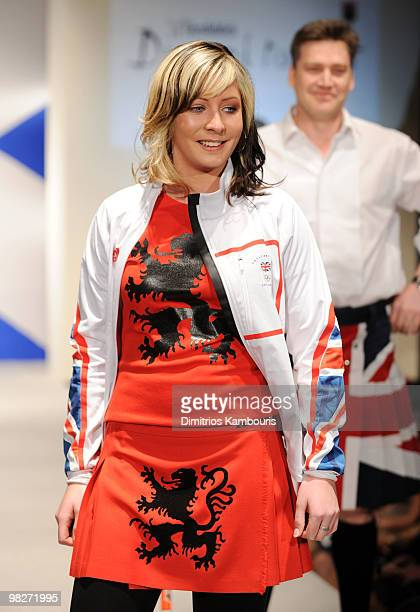 Olympian Eve Muirhead attends the 8th annual Dressed To Kilt Charity Fashion Show at M2 Ultra Lounge on April 5 2010 in New York City