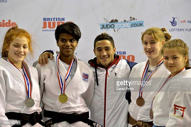 Olympian former Junior European champion and Big Brother contestant Ashley McKenzie presented the 70kgs medals to Silver Natasha Maslen Gold Amy...
