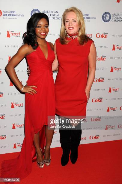 Olympian Gabby Douglas and designer Pamella Roland attend The Heart Truth 2013 Fashion at Hammerstein Ballroom on February 6 2013 in New York City