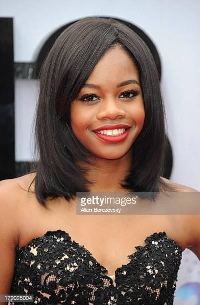 Olympian Gabby Douglas attends 2013 BET Awards Arrivals at Nokia Plaza LA LIVE on June 30 2013 in Los Angeles California