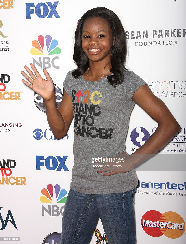 aedb0b22f7a U. S. Olympian Gabby Douglas attends the Stand Up To Cancer benefit ...