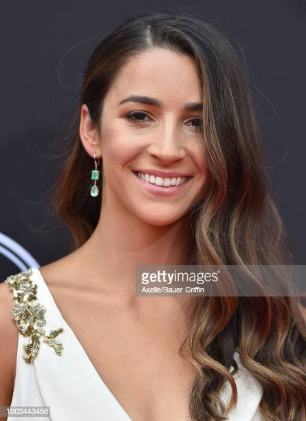 Olympian gymnast Aly Raisman attends The 2018 ESPYS at Microsoft Theater on July 18 2018 in Los Angeles California