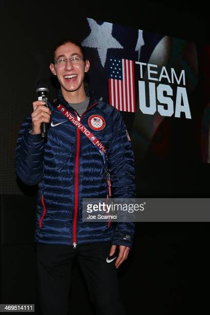 S Olympian Jason Brown visits the USA House in the Olympic Village on February 15 2014 in Sochi Russia