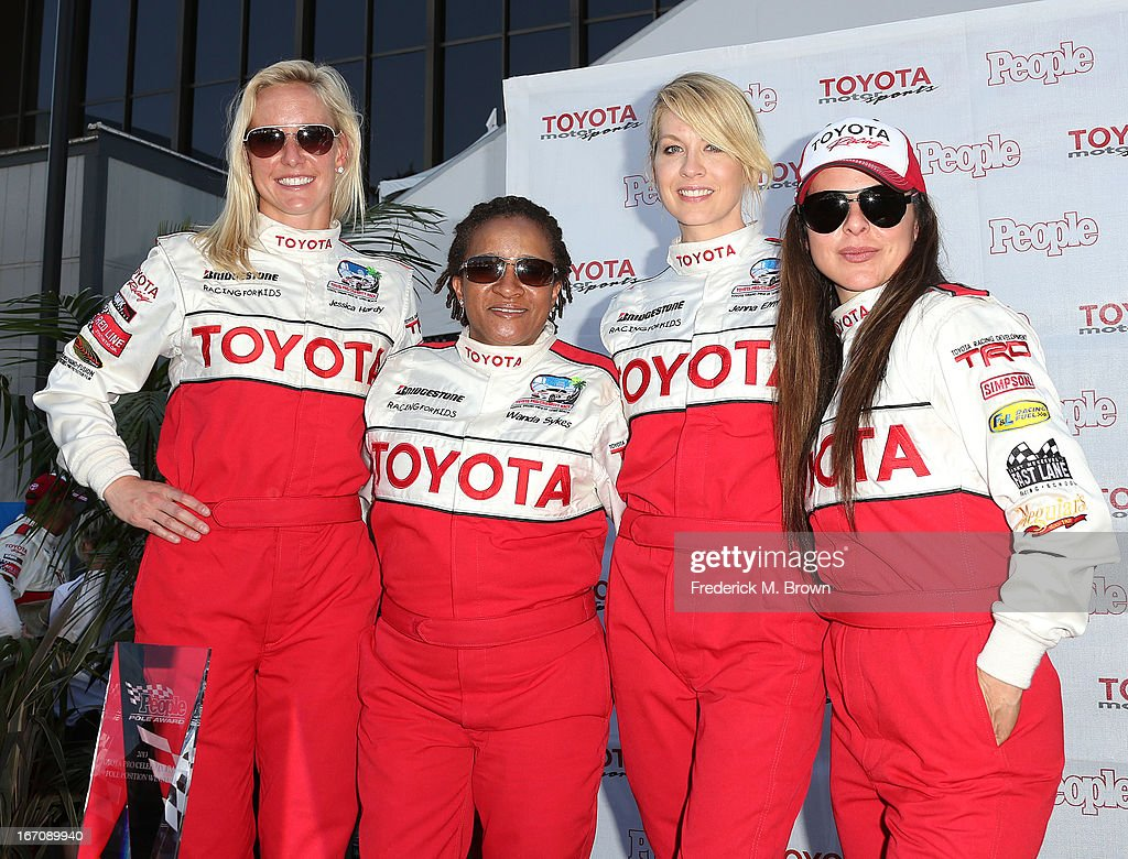 Olympian Jessica Hardy, actress Wanda Sykes, actress Jenna Elfman and actress Kate Del Castillo attend the 37th Annual Toyota Pro/Celebrity Race qualifying on April 19, 2013 in Long Beach, California.