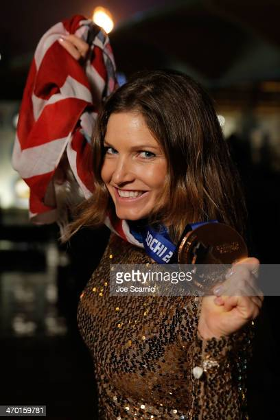 S Olympian Julia Mancuso visits the USA House in the Olympic Village on February 18 2014 in Sochi Russia