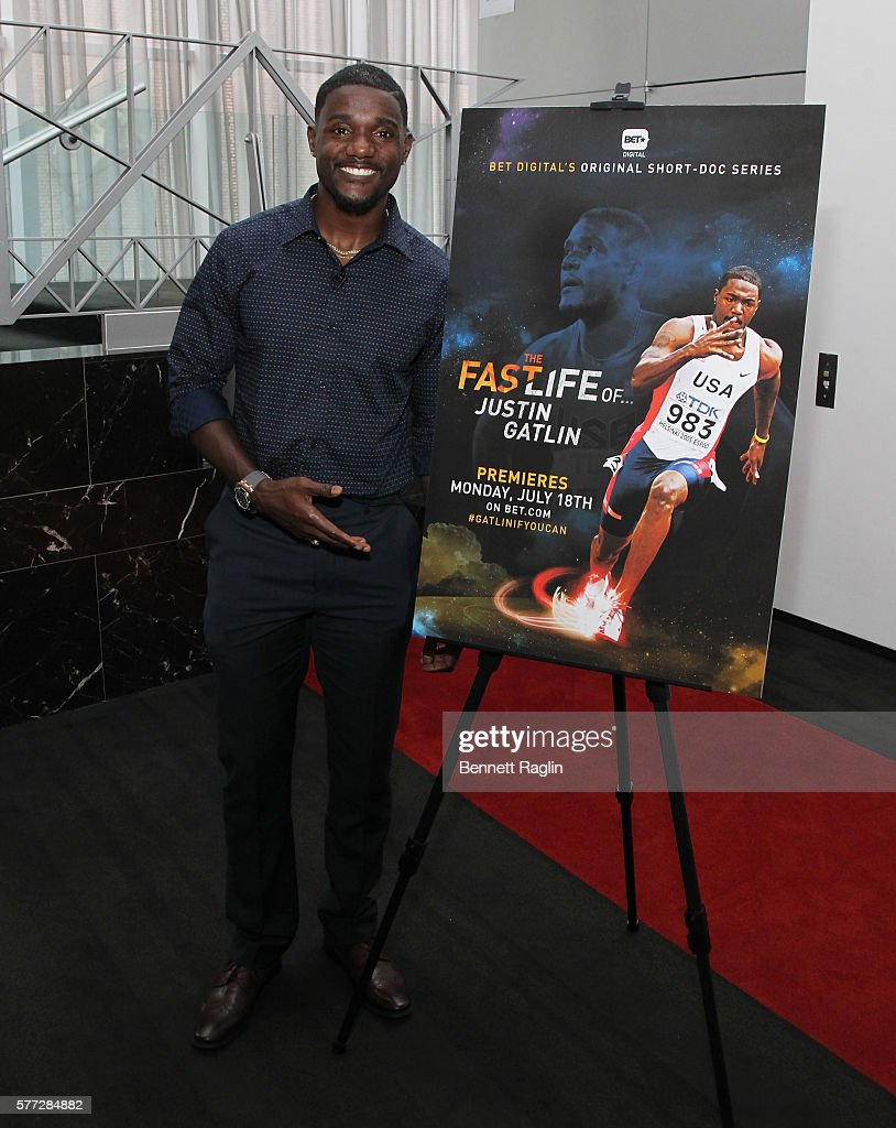 Olympian Justin Gatlin attends BET Digital Presents 'The Fast Life Of: Justin Gatlin' on July 18, 2016 in New York City.