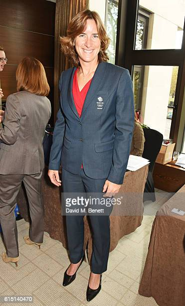 Olympian Katherine Grainger attends The 61st Women of the Year lunch and awards 2016 at InterContinental Park Lane Hotel on October 17 2016 in London...
