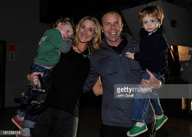 Olympian Kerri Walsh and her husband Casey Jennings with their children attend the Third Annual Hall of Game Awards hosted by Cartoon Network at...