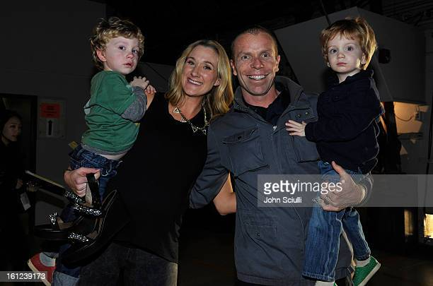 Olympian Kerri Walsh her husband Casey Jennings and their children attend the Third Annual Hall of Game Awards hosted by Cartoon Network at Barker...