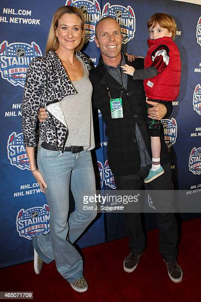 Olympian Kerri WalshJennings Casey Jennings and Sundance Jennings walk the red carpet at the 2014 Coors Light NHL Stadium Series between the Anaheim...
