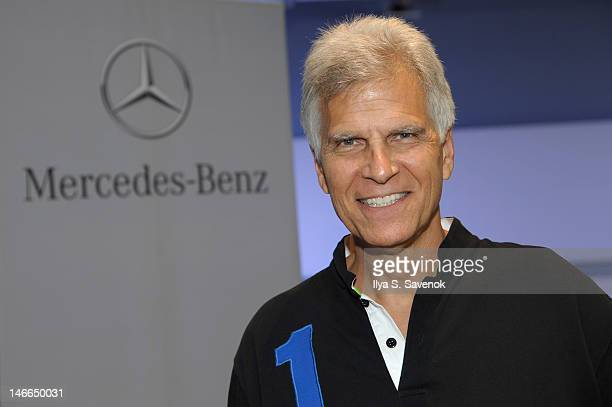 Olympian Mark Spitz attends NineTime Olympic Champion Mark Spitz and MercedesBenz kick off Laureus Sport for Good USA at MercedesBenz Manhattan on...
