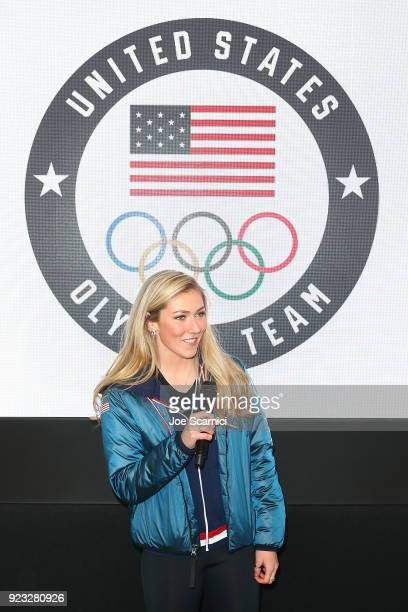 S Olympian Mikaela Shiffrin attends the USA House at the PyeongChang 2018 Winter Olympic Games on February 23 2018 in Pyeongchanggun South Korea