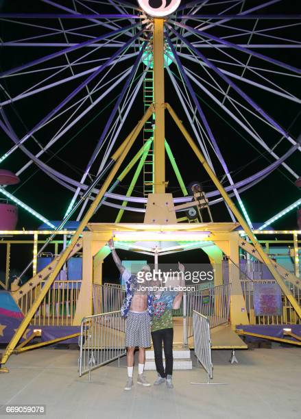Olympian Miles ChamleyWatson attends The Levi's Brand Presents NEON CARNIVAL with Tequila Don Julio on April 15 2017 in Thermal California