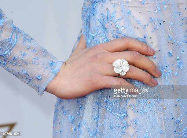 Olympian Mirai Nagasu ring detail attends the 90th Annual Academy Awards at Hollywood Highland Center on March 4 2018 in Hollywood California