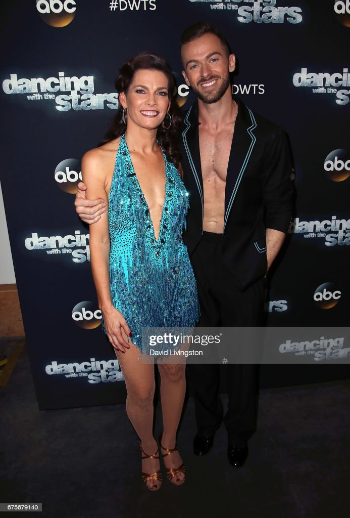 Olympian Nancy Kerrigan (L) and dancer Artem Chigvintsev attend 'Dancing with the Stars' Season 24 at CBS Televison City on May 1, 2017 in Los Angeles, California.