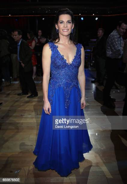 Olympian Nancy Kerrigan attends Dancing with the Stars Season 24 premiere at CBS Televison City on March 20 2017 in Los Angeles California