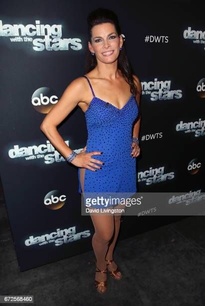 Olympian Nancy Kerrigan attends 'Dancing with the Stars' Season 24 at CBS Televison City on April 24 2017 in Los Angeles California