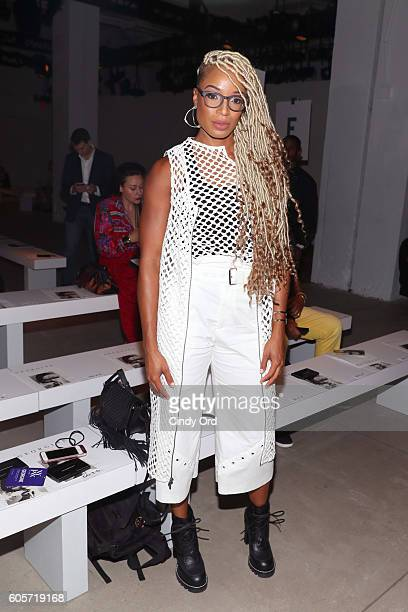 Olympian Natasha Hastings attends the Georgine fashion show during New York Fashion Week September 2016 at The Gallery Skylight at Clarkson Sq on...